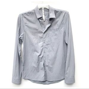 LULULEMON gray stretch button shirt small s